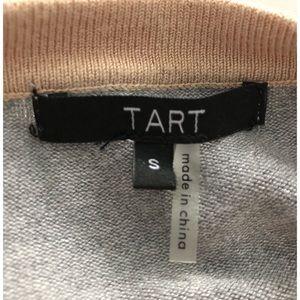 Tart Dresses - TART Tan/Gray Sweater Dress